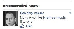 Country music facebook like