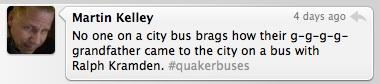 Quakerbuses tweet 1