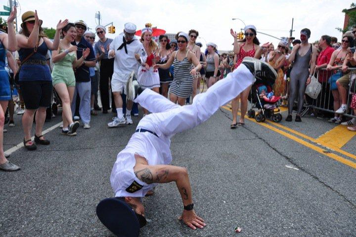 Rik breaking at Mermaid Parade 2011