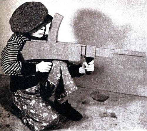 Kid w machine gun