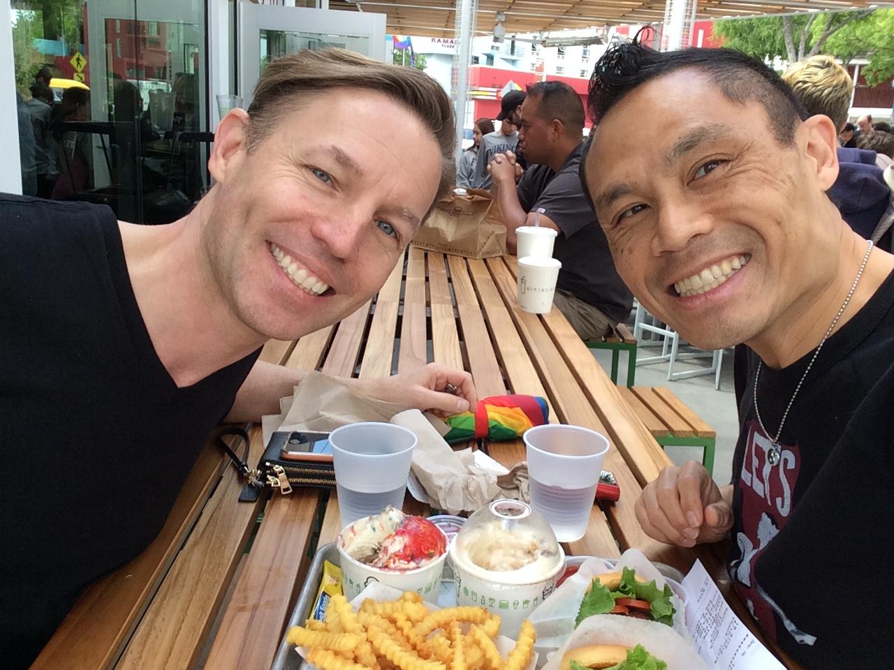 Rik and david at shake shack