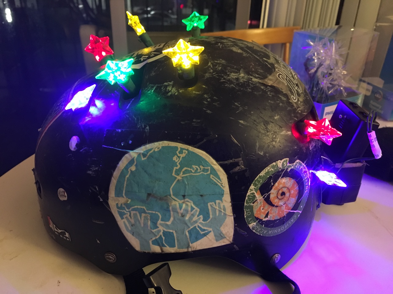 Light up helmet