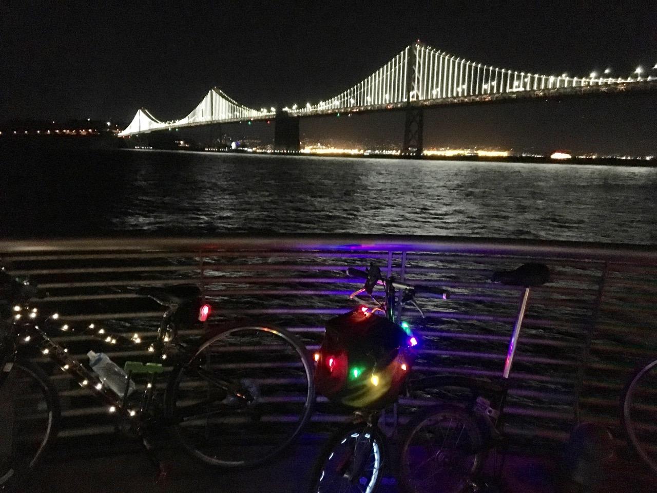 Bikes and the bay bridge