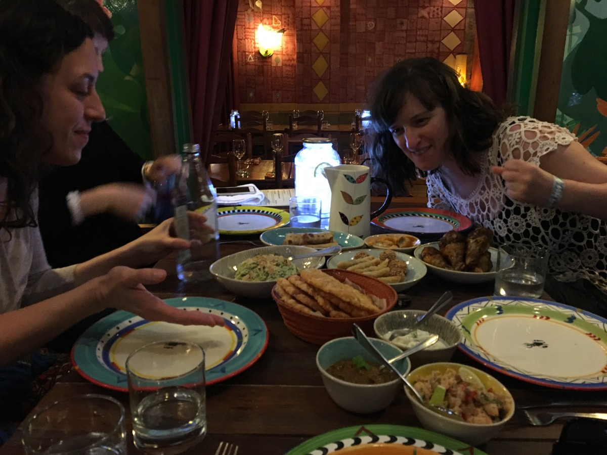 Hanah is excited about african cafe feast-1200