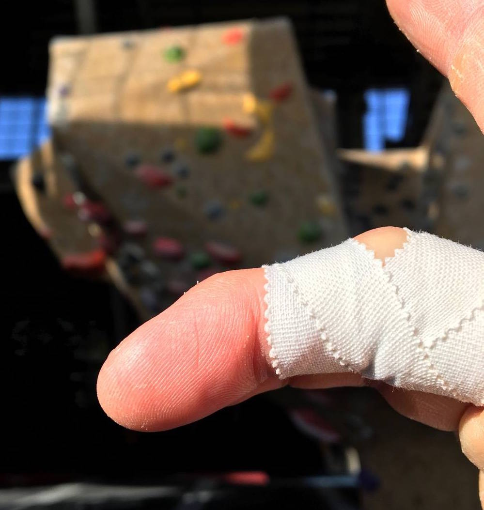 Finger wrap a2 pulley strain