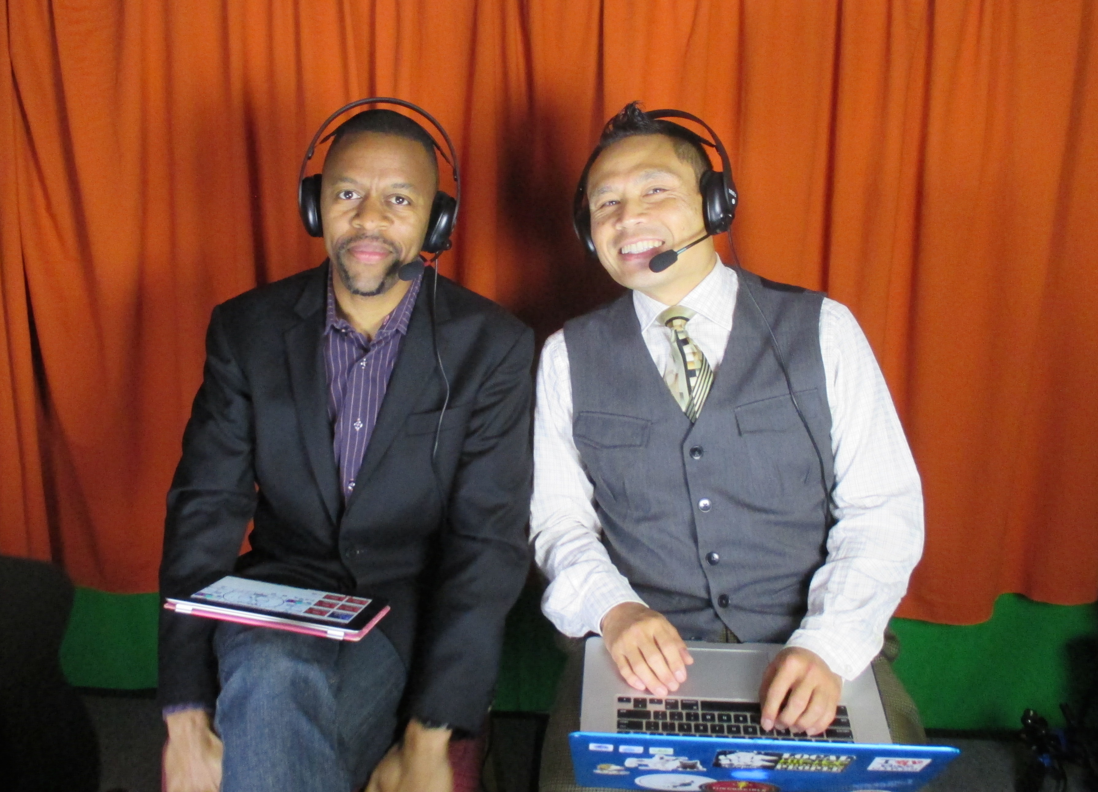 Rik and manu in the booth 2