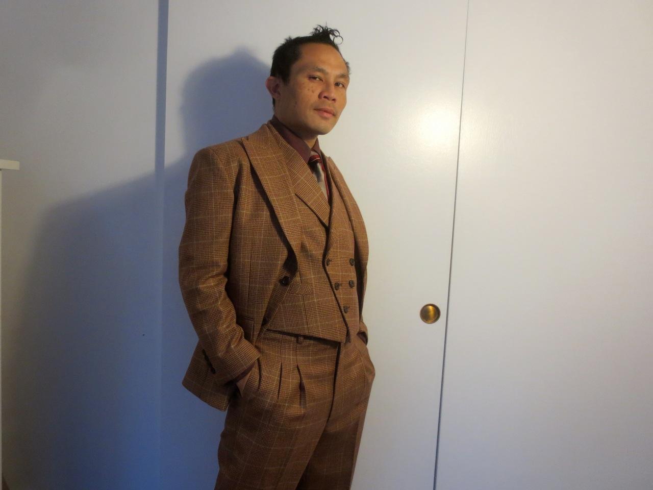 Full suit unbottoned