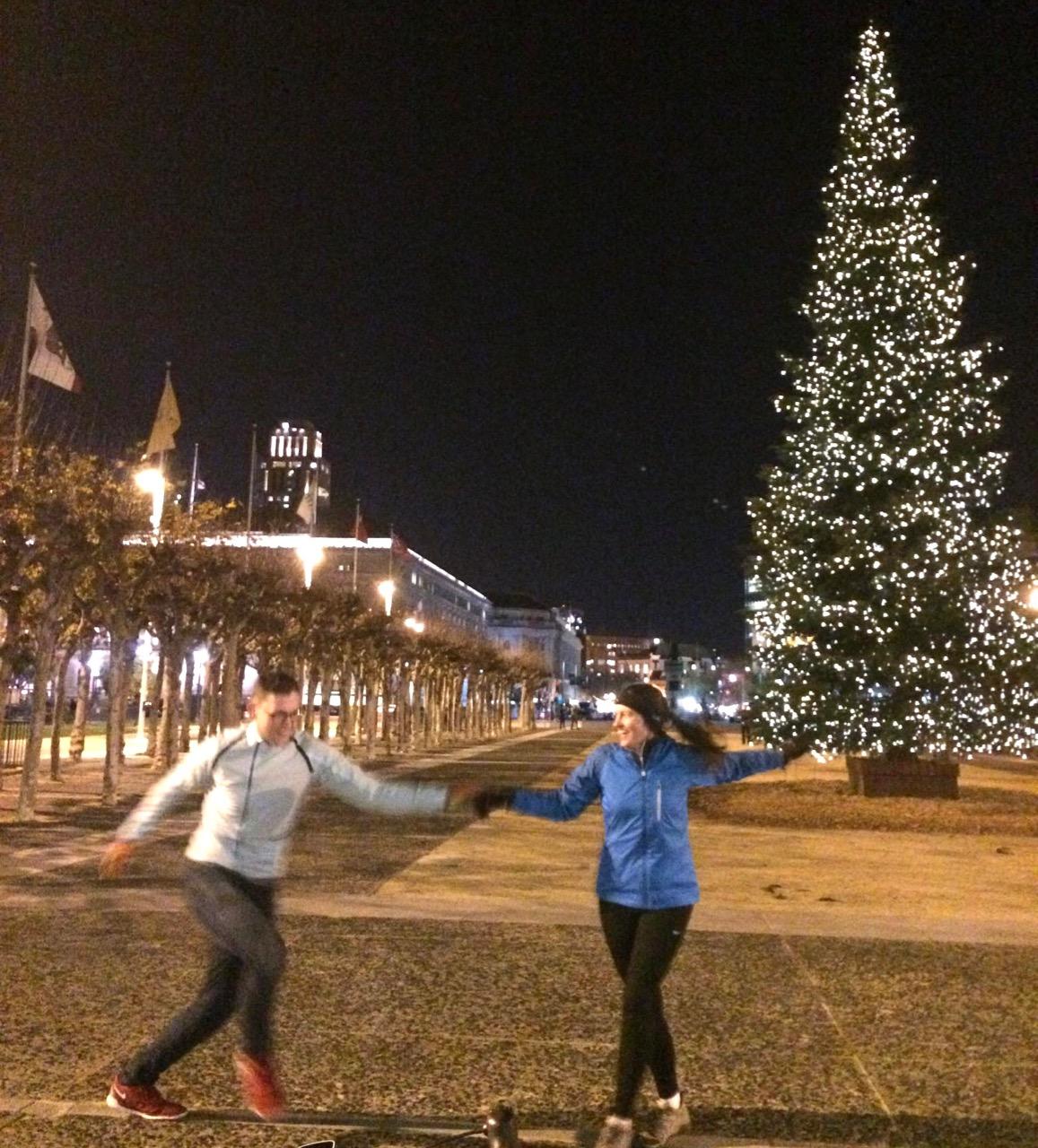 Drew and lauren dancing at city hall