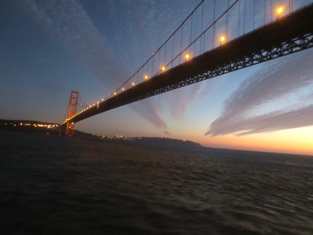 GG bridge at sunset