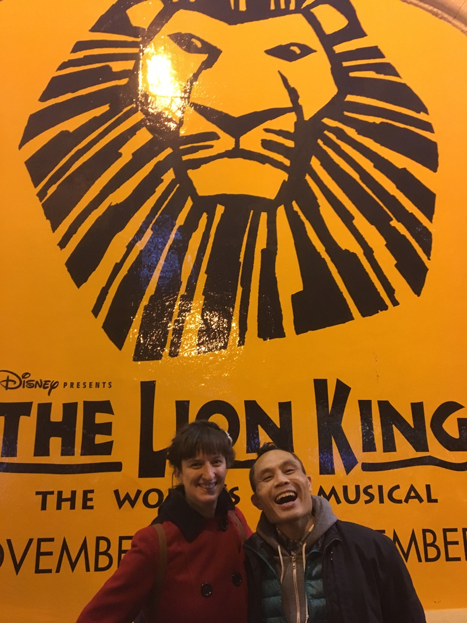 Hanah and rik at lion king
