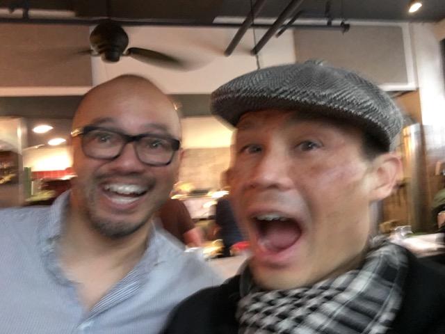 Excited blurry selfie