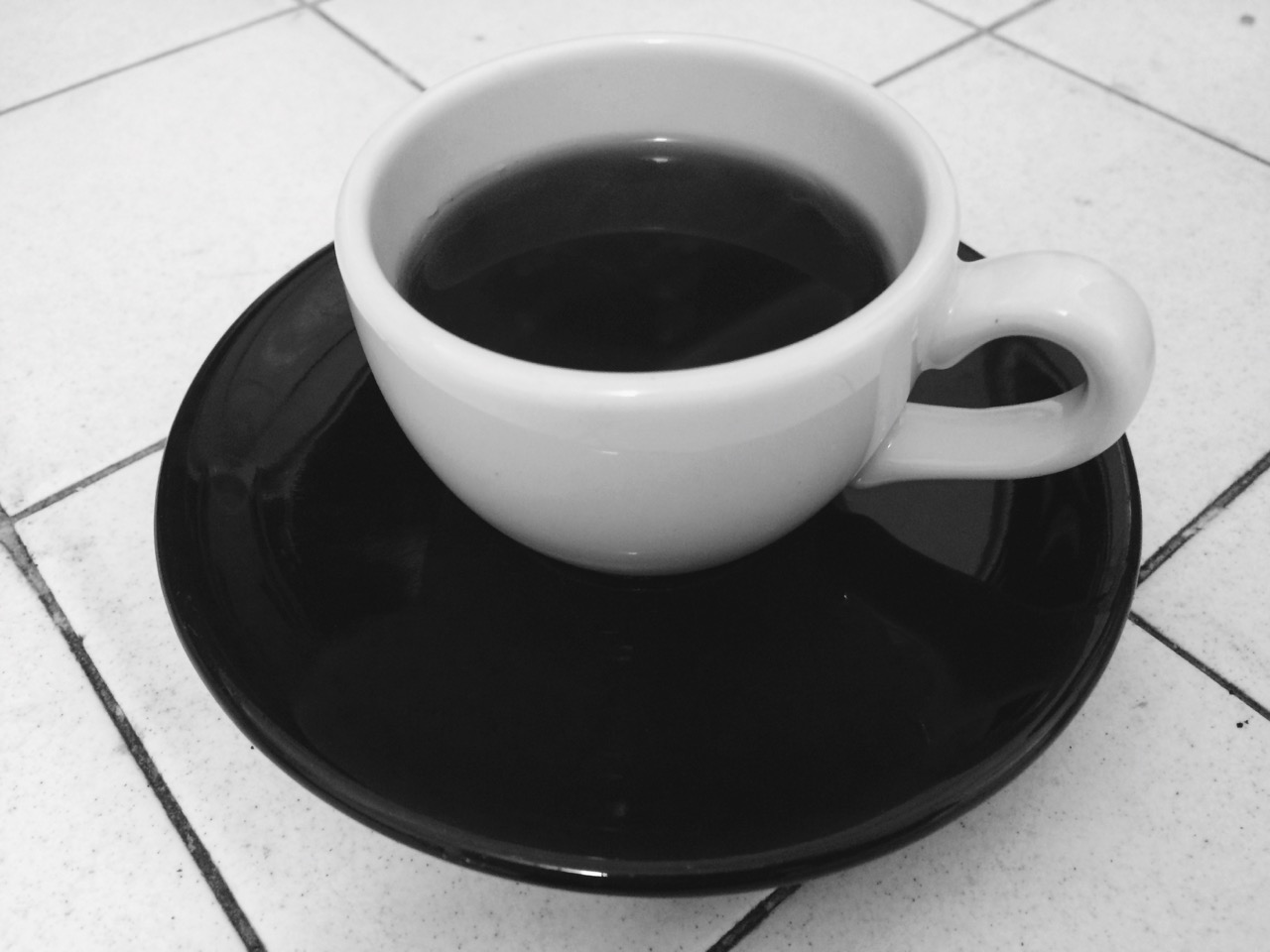 Morning coffee - white and black – Version 2