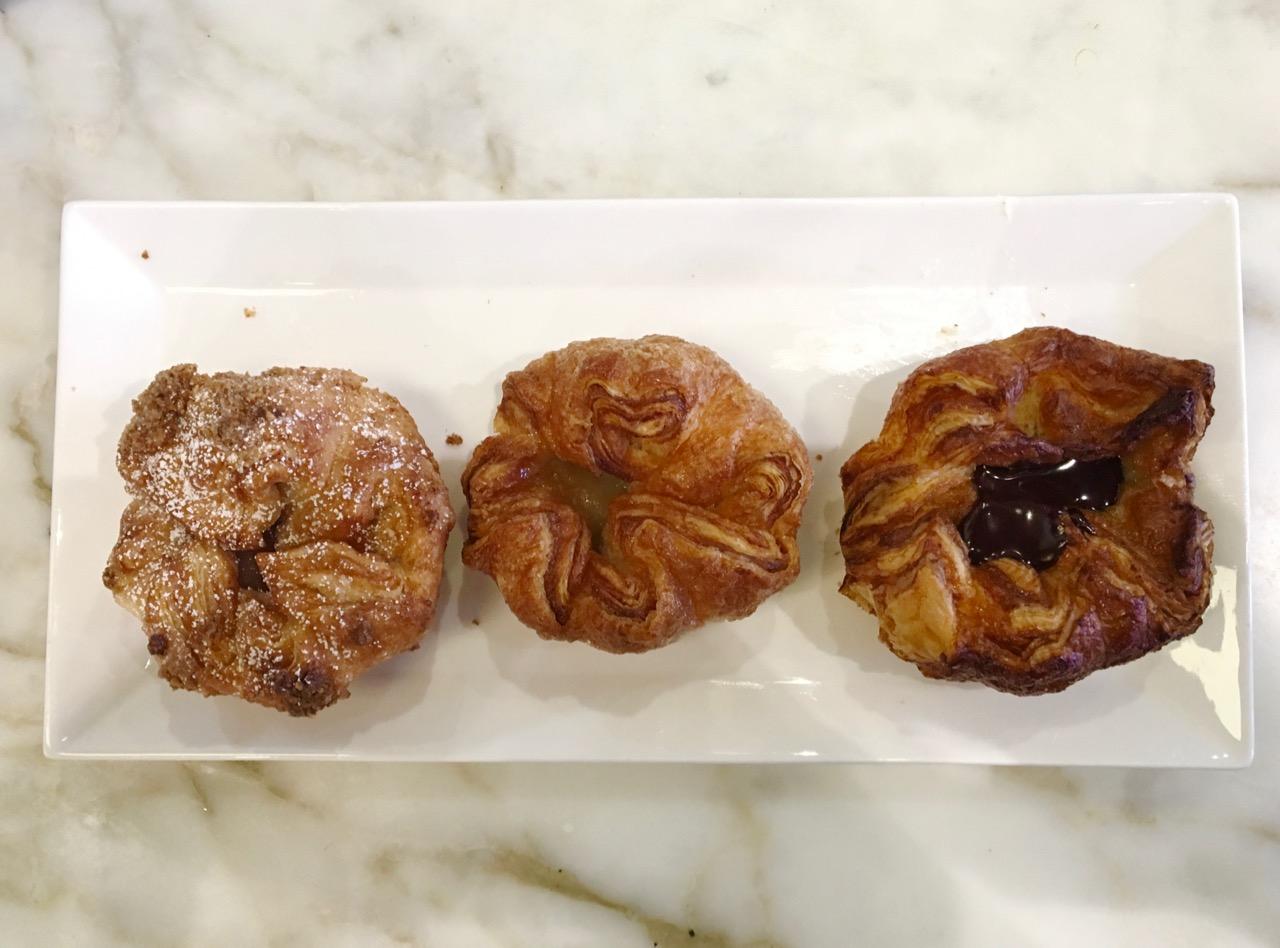 Cranberry pear  plain and chocolate kouign amann b patisserie