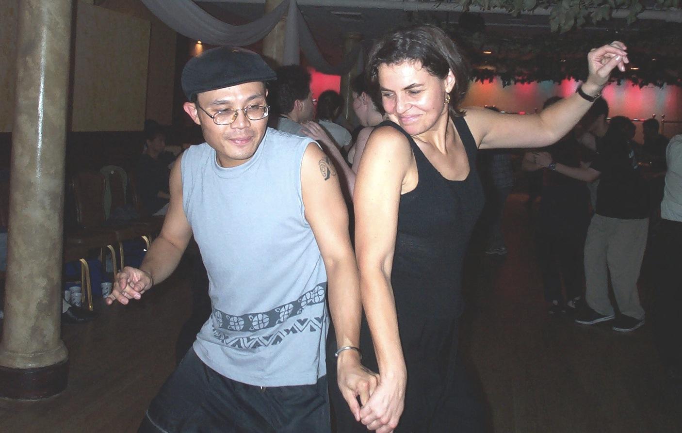 Rik and nina dancing 2001