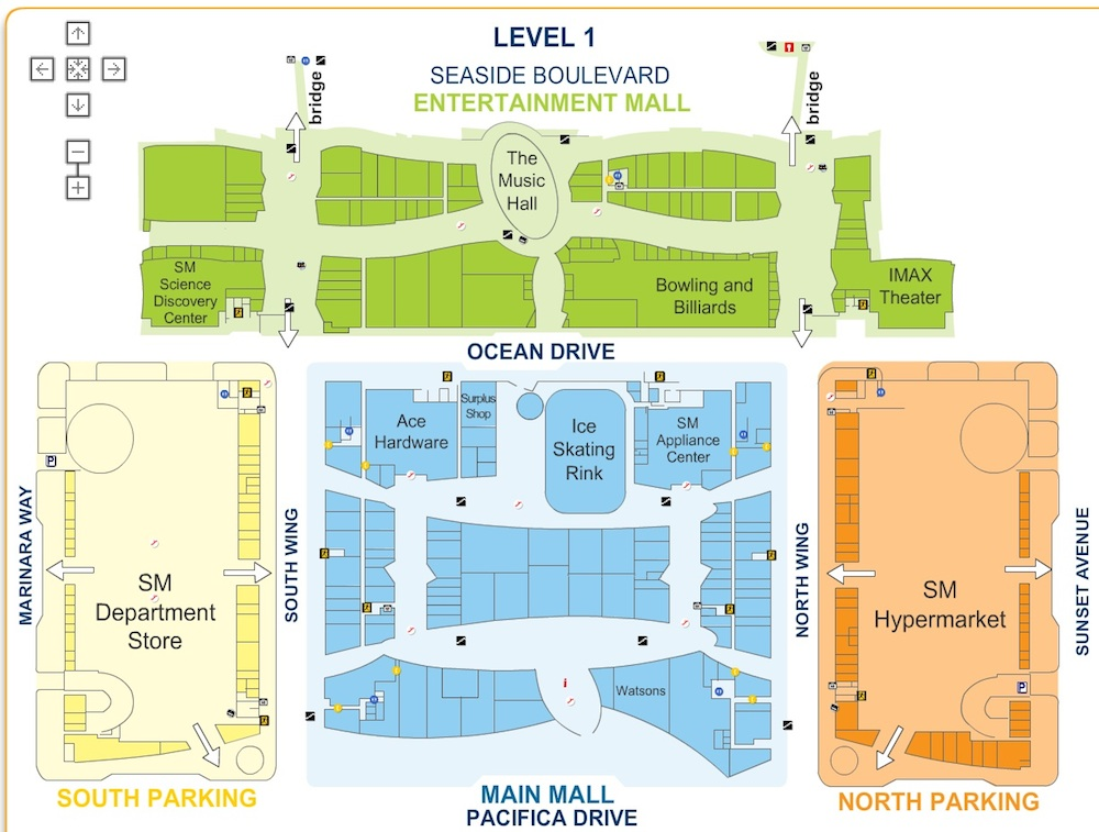Sm mall of asia map