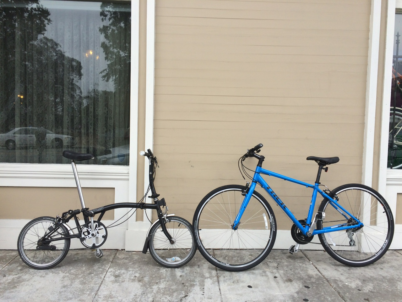 Brompton and Trek 7.2 meet