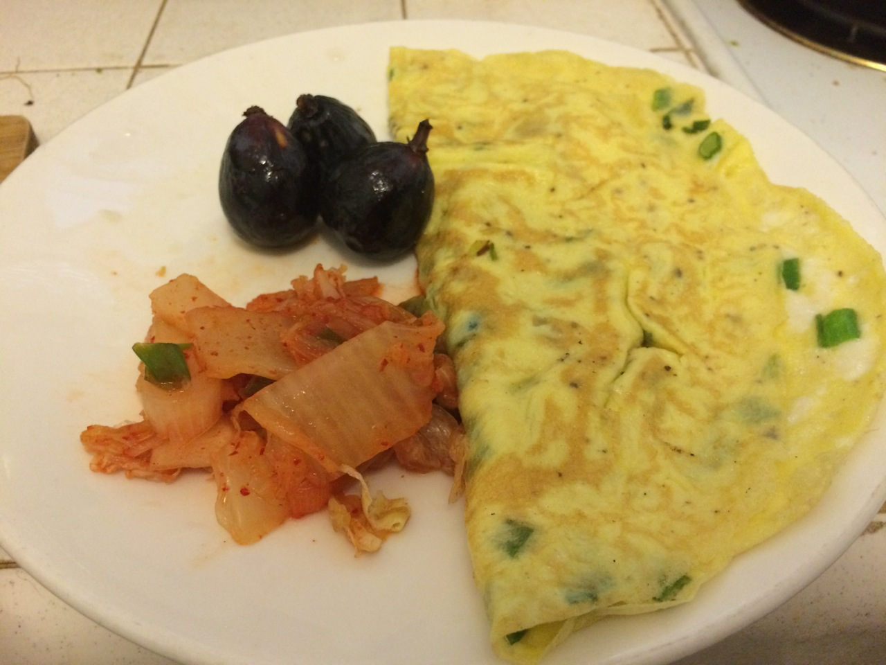 Omelette with chinese sausage and scallion