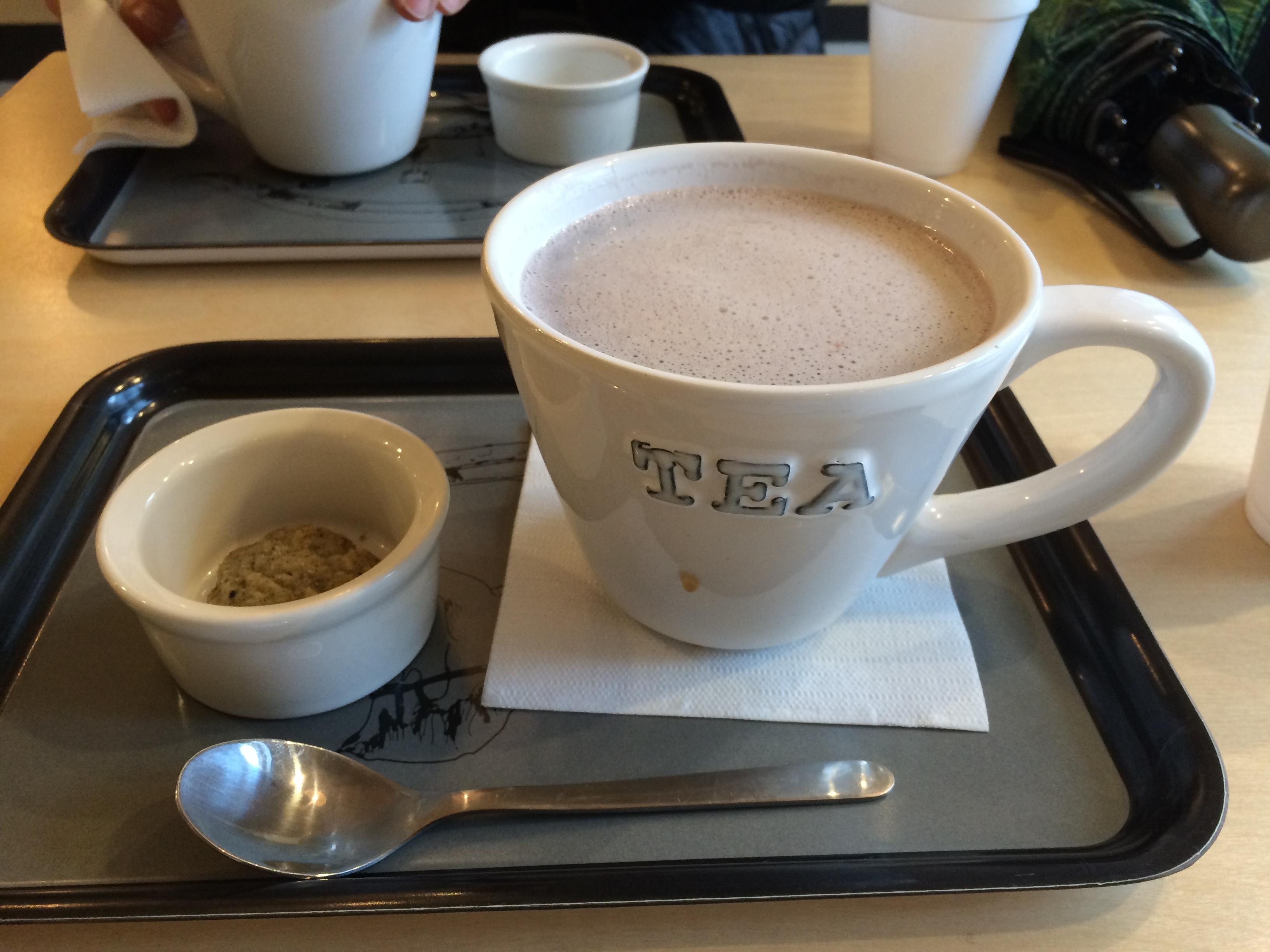 Four leaf tea taro boba!