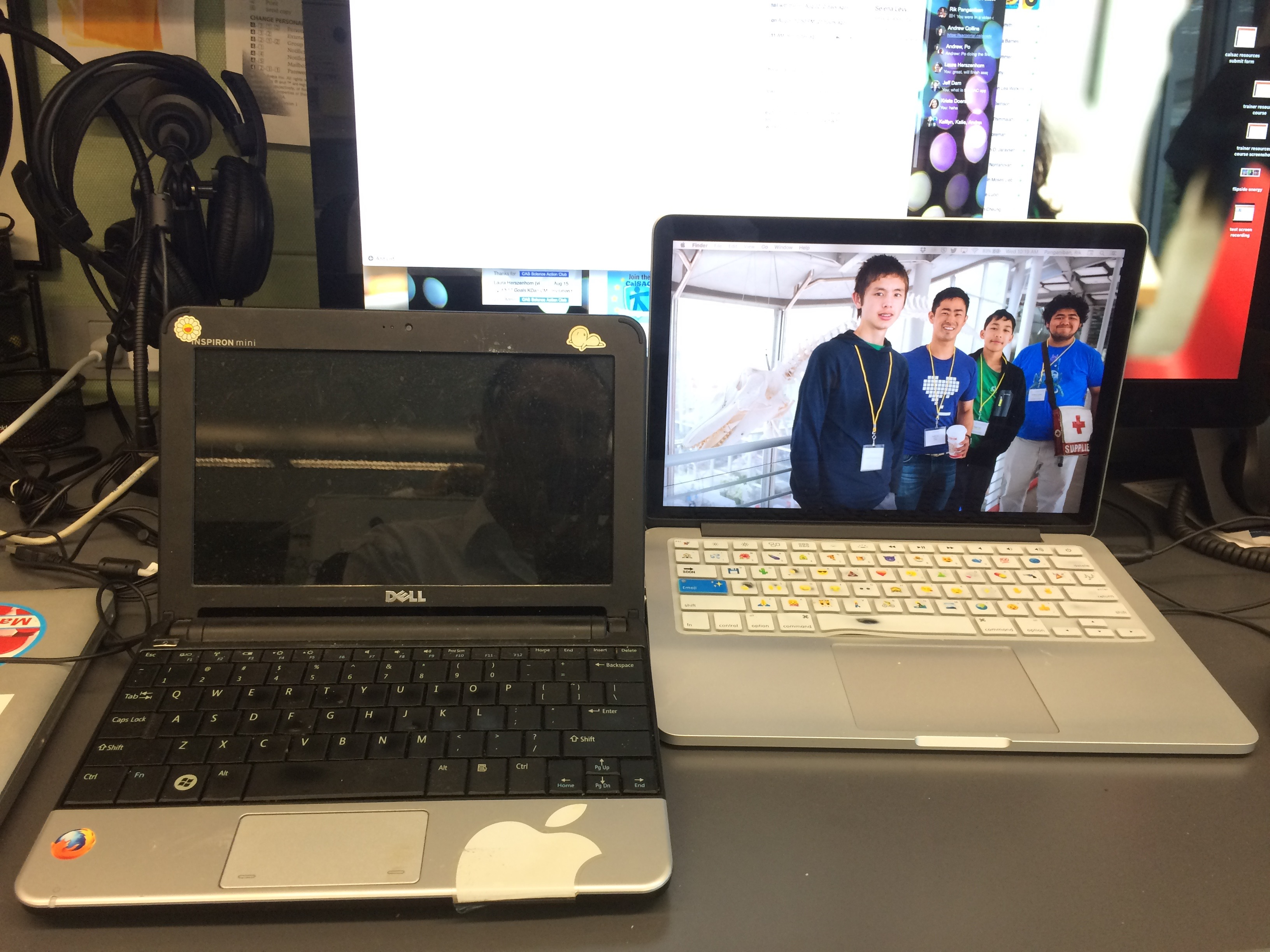 Dell netbook and MacBook Pro