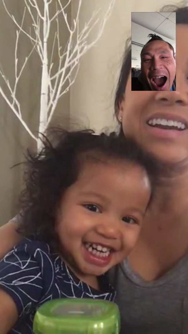 Facetime with Aria and Cori!