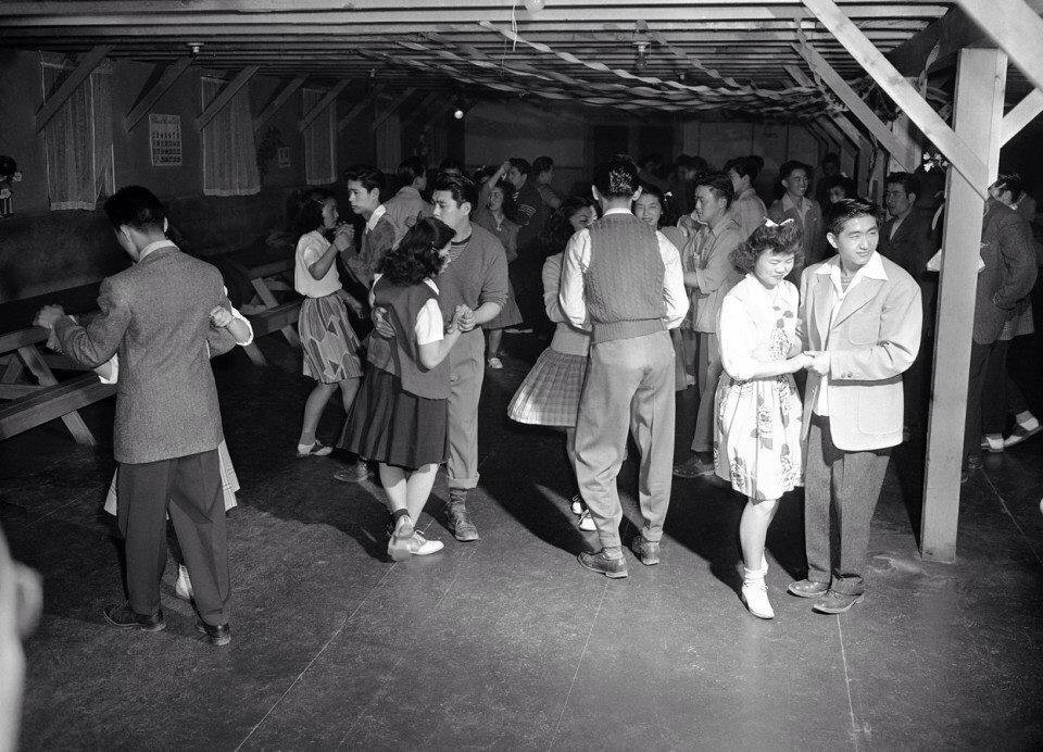 Jap-americans swing dance internment camp