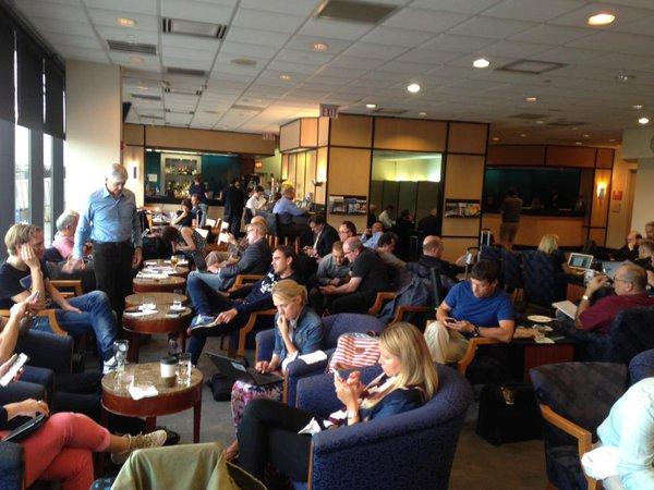 Crowded lounge