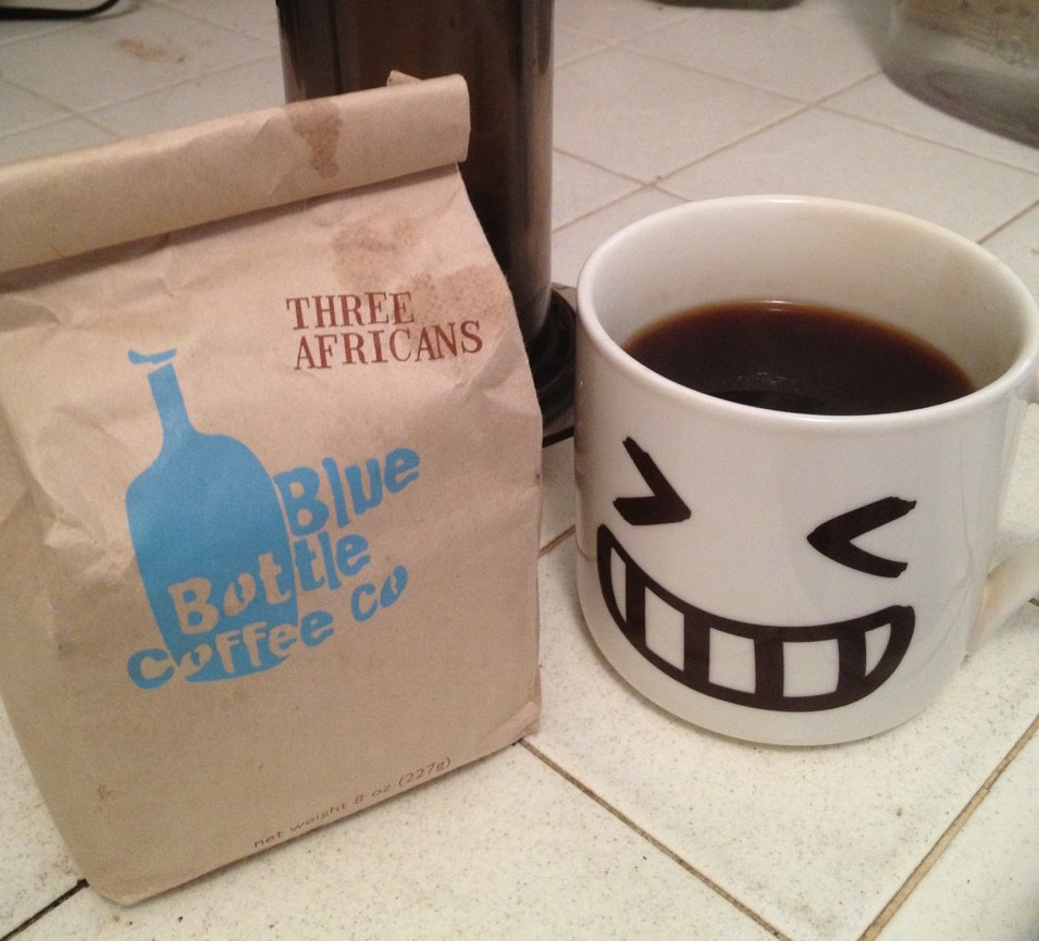 Happy Mug likes Blue Bottle Coffee!