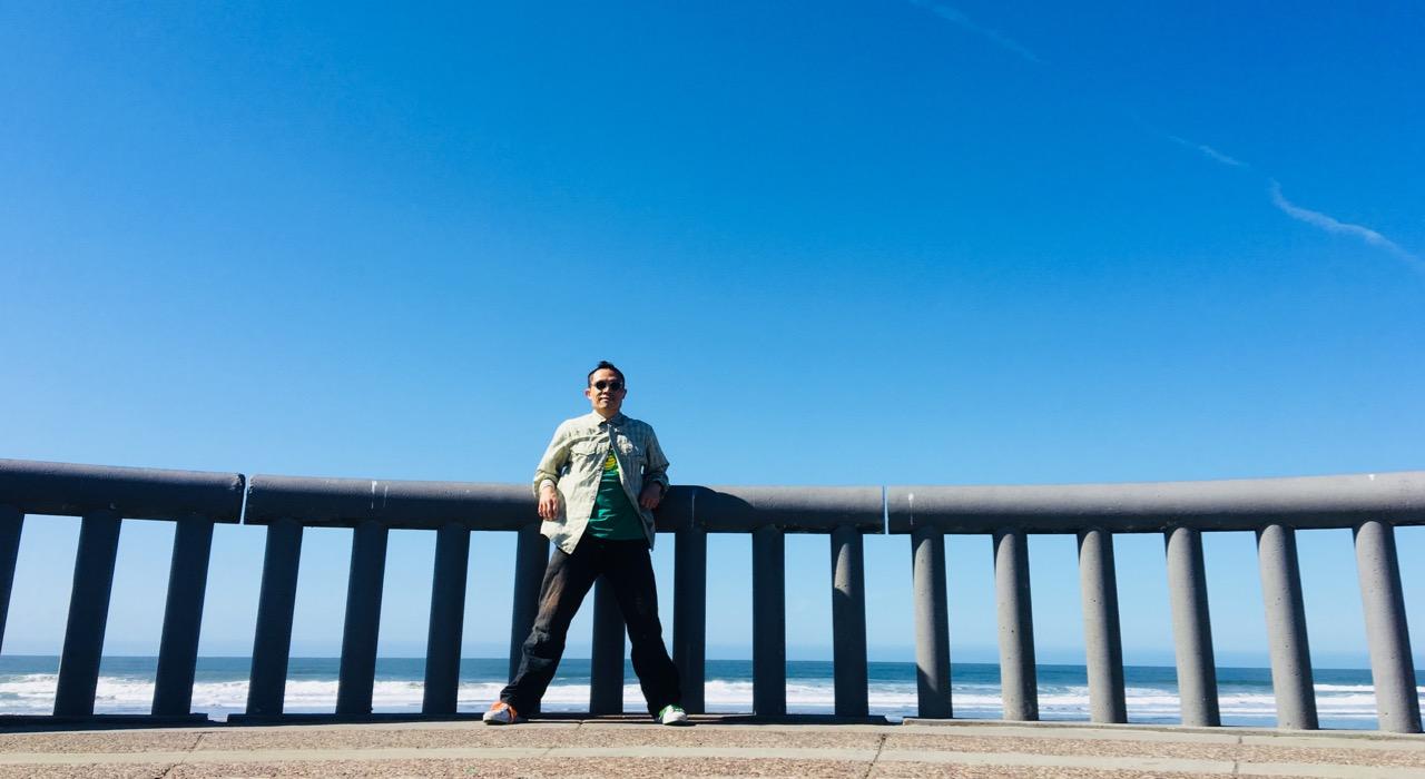 Rik at ocean beach