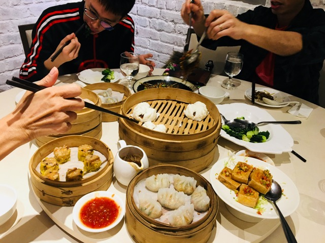 Amazing veggie dimsum with Sing fam
